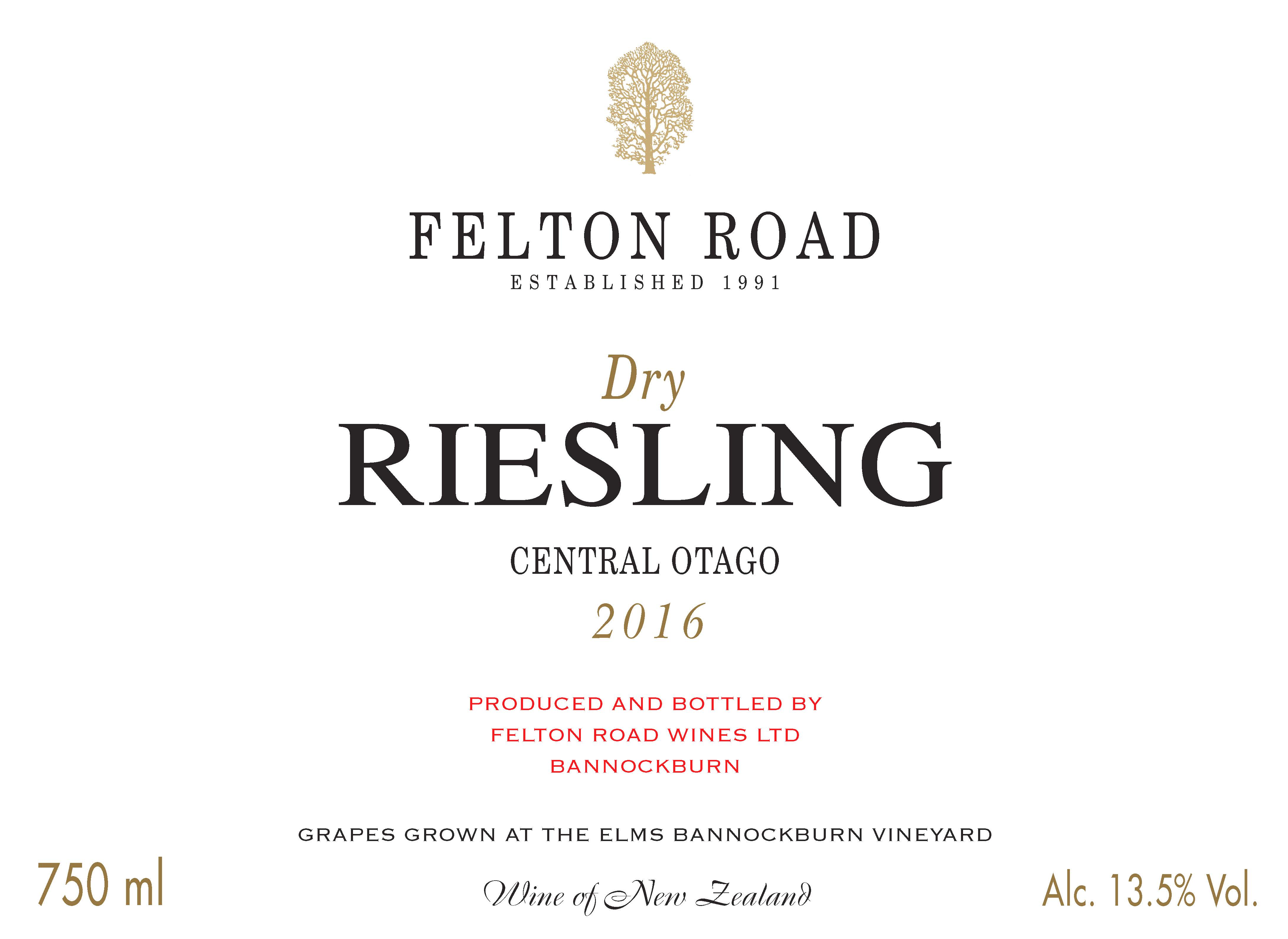 2016 Dry Riesling - SORRY SOLD OUT image
