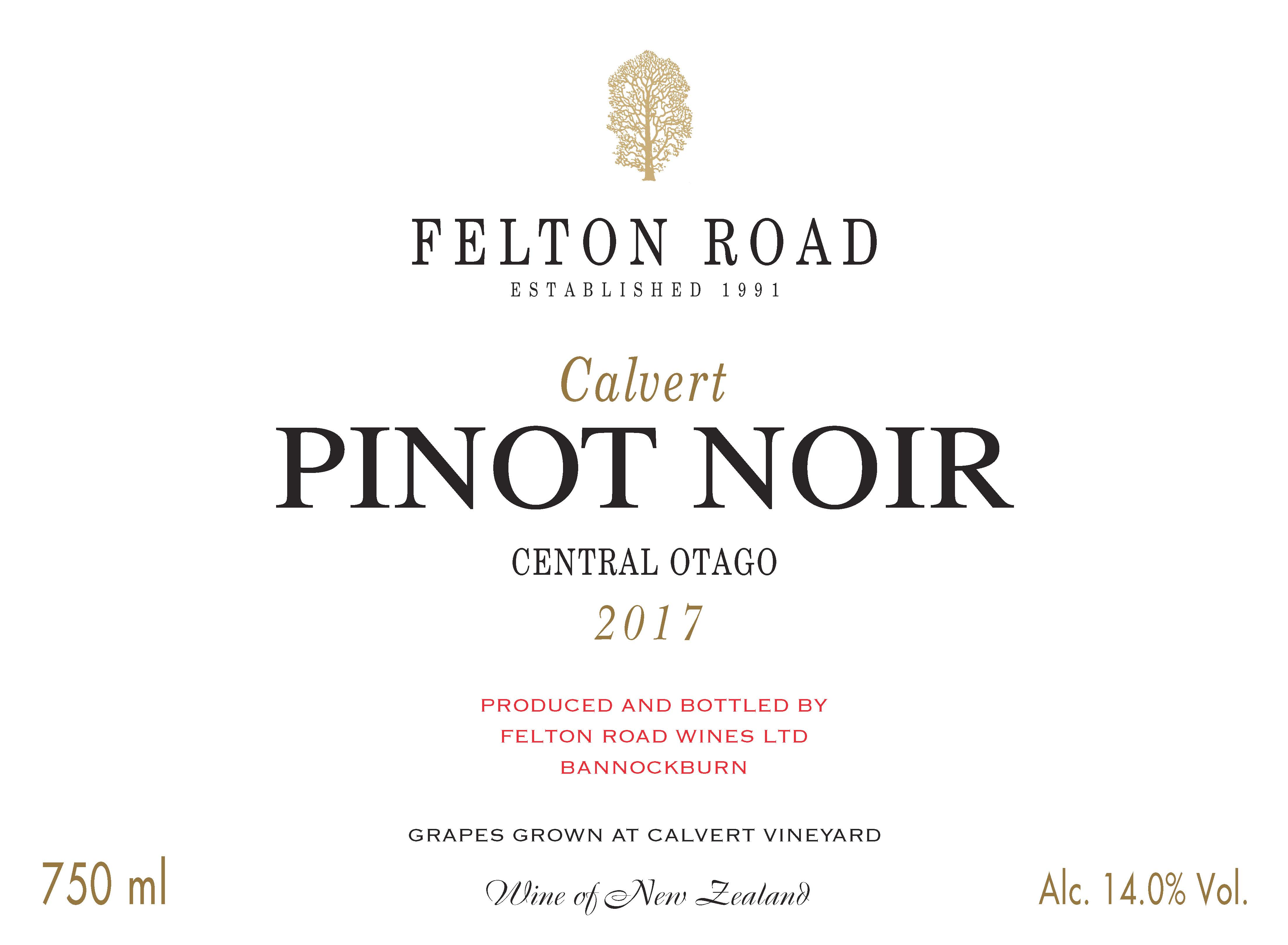 2017 Pinot Noir Calvert - SORRY SOLD OUT image