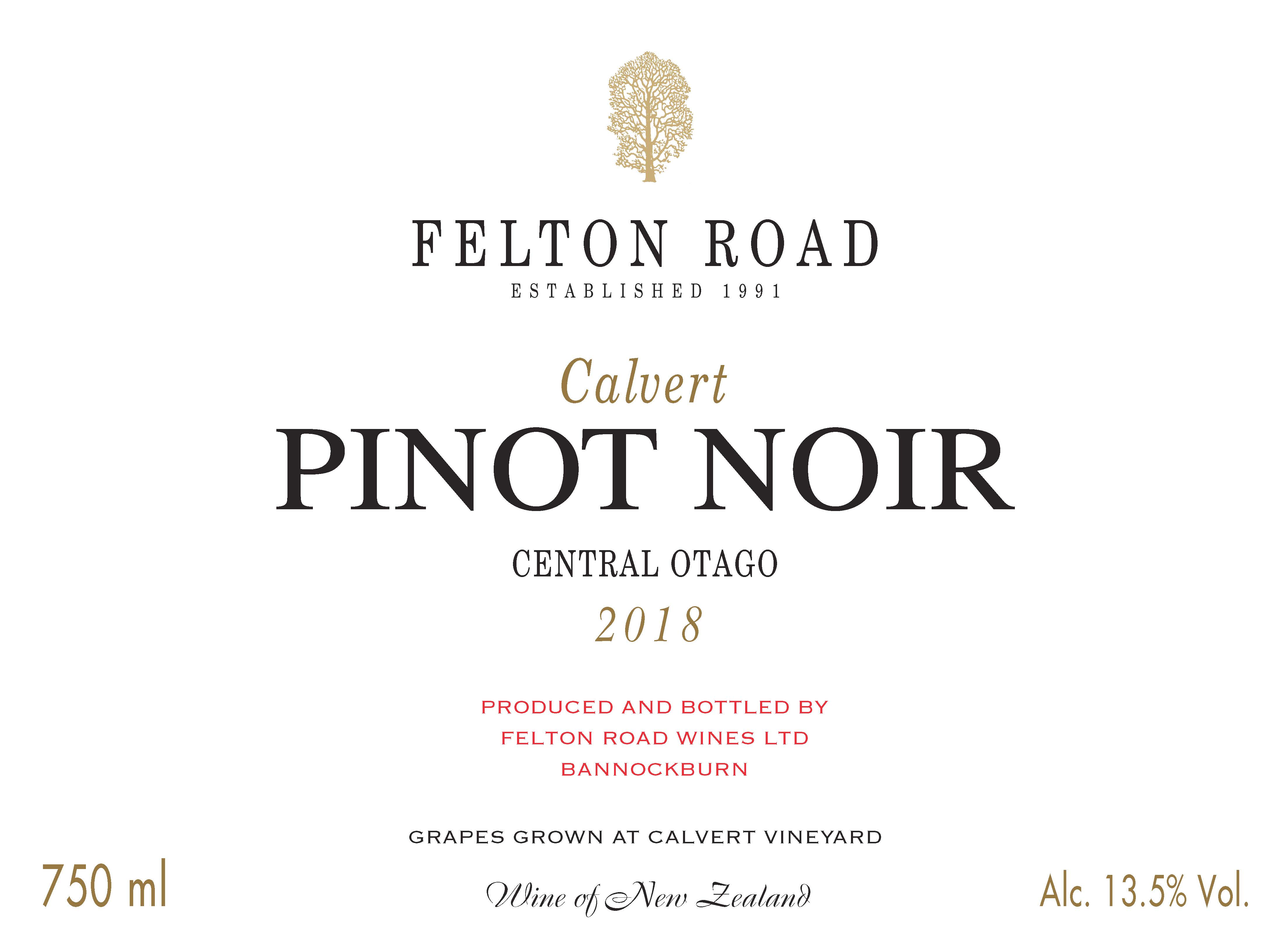 2018 Pinot Noir Calvert - Limit 6 bottles per customer image