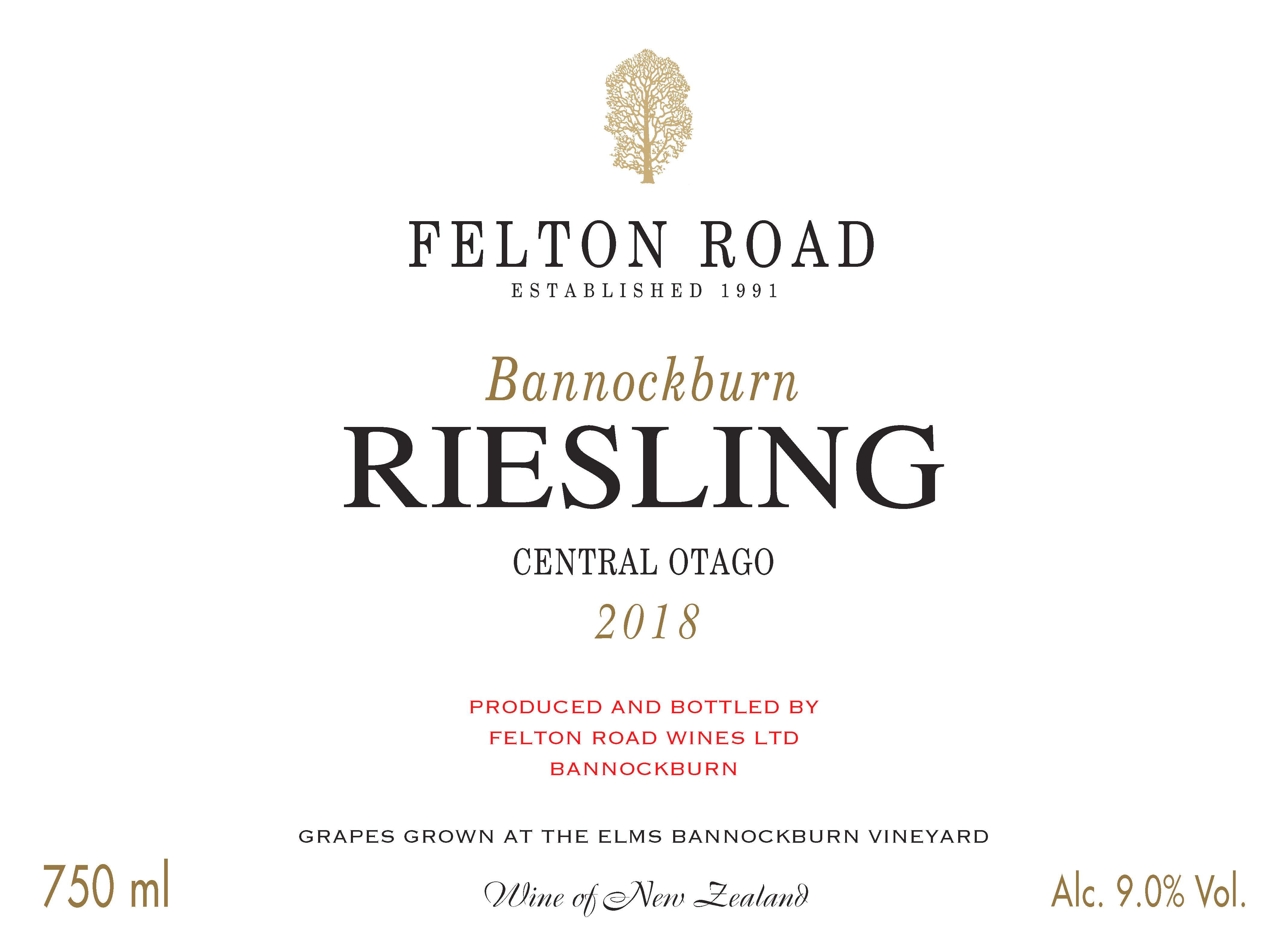 2018 Riesling Bannockburn - SORRY SOLD OUT image